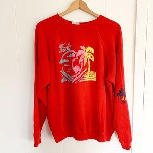 Vintage Florida red crewneck sweatshirt puff xl
